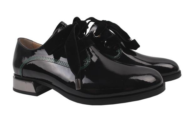 Туфли комфорт Lottini лаковая натуральная кожа, цвет черный