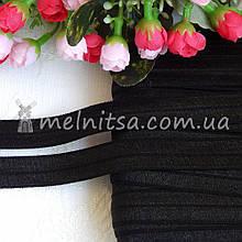 Гумка для пов'язок (еластична бейка), 1,5 см, чорний