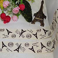 Лента репсовая Париж, эйвори, 2,5 см