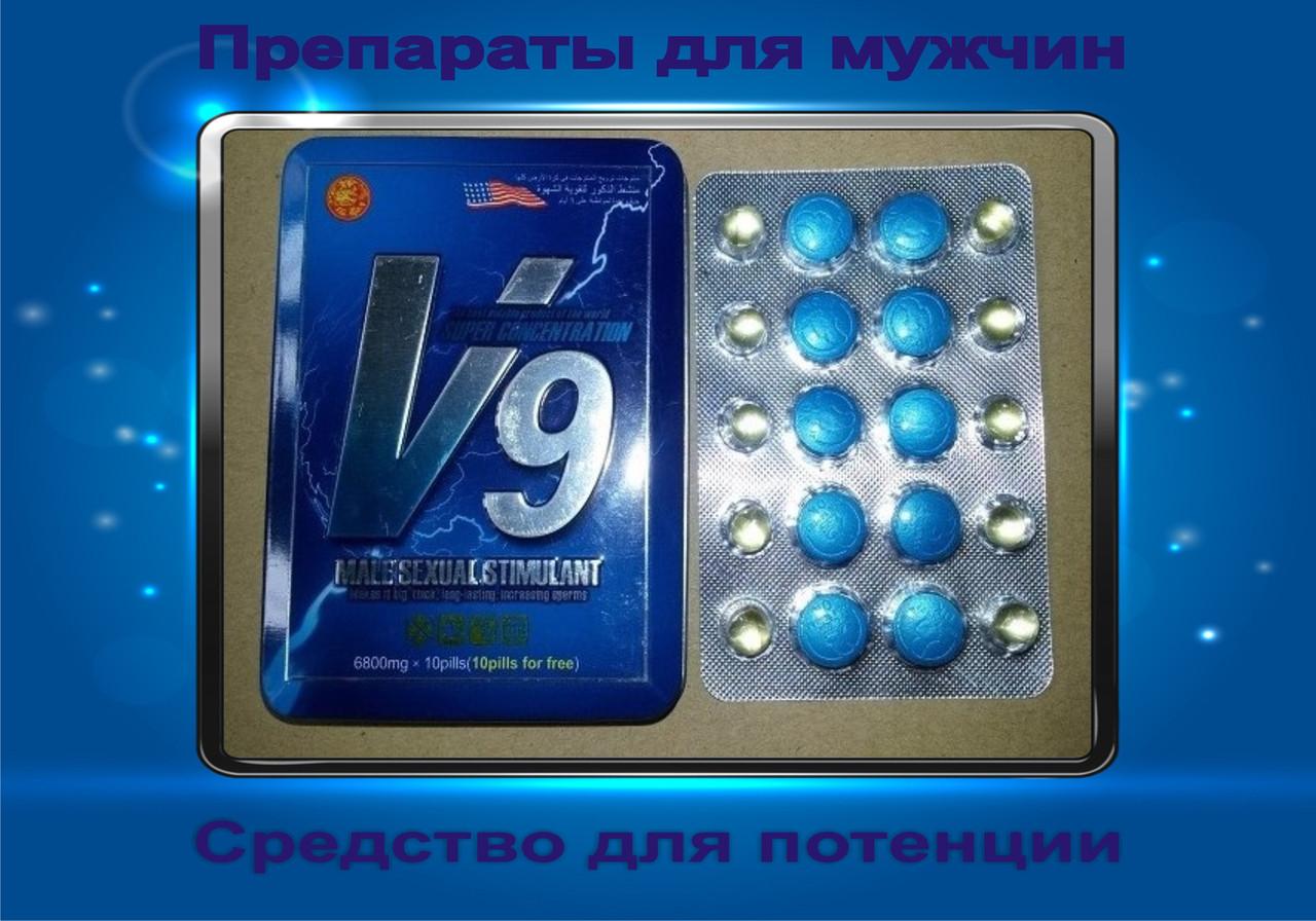 """Препарат для повышения потенции """"Вигра V9"""" 10 таблеток."""