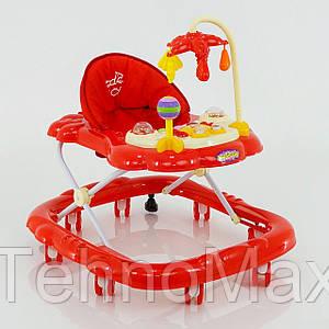 Детские ходунки музыкальные модель D28 (красные)