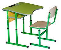Комплект стол ученический 1-местный без полки антисколиозный, №4-6 + стул Т-образный, №4-6, фото 1