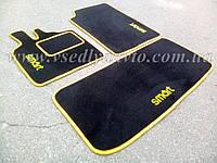 Текстильные черные коврики для Smart Fortwo 450 (в салон и в багажник)