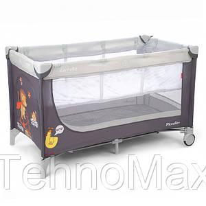 Манеж-кровать CARRELLO Piccolo+ CRL-9201 Grey