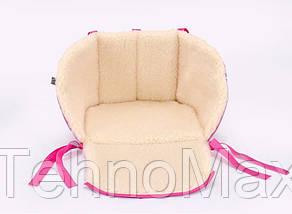 Матрасик для санок Baby Breeze 0301 (малина), фото 2