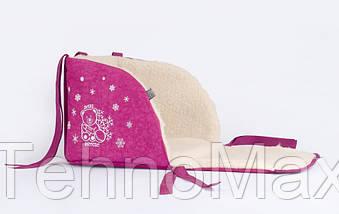 Матрасик для санок Baby Breeze 0301 (малина), фото 3