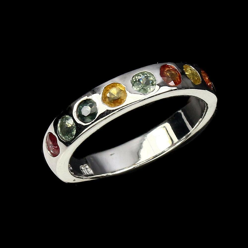 Серебряное кольцо с сапфирами 0109 размер 16.5