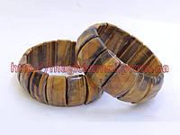 Браслет из натурального тигрового глаза,крупная пластина, фото 1