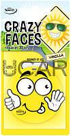 Tasotti Crazy Faces Vanilla Ароматизатор сухой листик (93610)