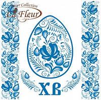 """Салфетка ТМ """"La Fleur"""" 33 * 33, 2 слоя, 20шт. """"Голубой декор"""" 15уп / ящ"""