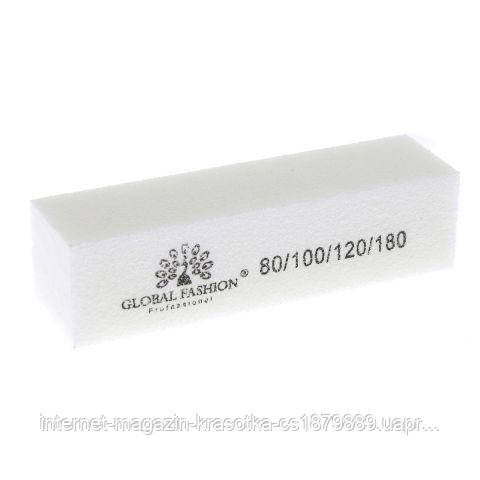 Бафф для шлифовки ногтей 80/100/120/180 GLOBAL