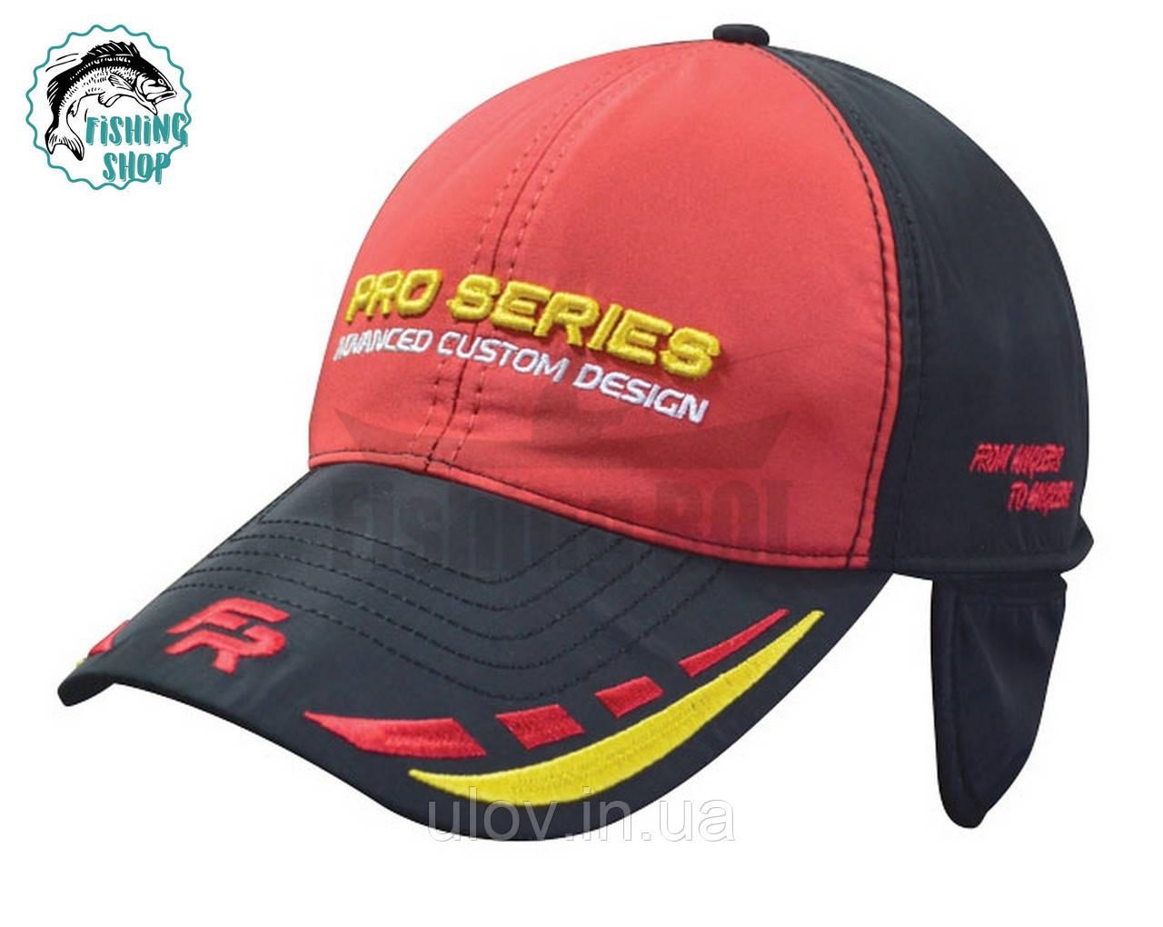 Бейсболка Fishing ROI Pro Series черно-красная зимняя 59р-р