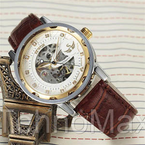 Мужские механические часы скелетон