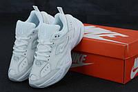 Женские белые кожаные кроссовки Nike M2K Tekno