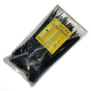 Хомут пластиковый OPTIMA 4 х 370 (стяжка нейлоновая для кабеля), фото 2