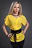 Женская шифоновая блузка с поясом