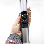 Беспроводные наушники блютуз гарнитура Wi-pods S2 Bluetooth 5.0 с зарядным чехлом-кейсом 1200 мАч. Металлик, фото 6