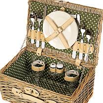 Плетёная корзина для пикника на 2 персоны (026PPN), фото 3