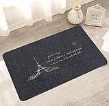 Коврик «Paris» темно-серый 40×120 см с вышивкой, фото 4