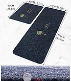 Коврик «Paris» темно-серый 40×120 см с вышивкой, фото 6