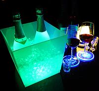 Led LED подставку для бутылок с подсветкой Noblest Art  для баров, кафе, событий  19*19 см  (LY3081)
