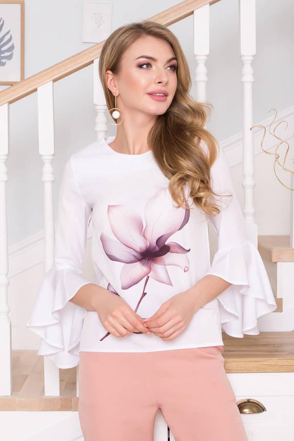 Белая блузка с принтом, фото 2