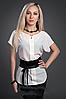 Женская блузка шифоновая с поясом