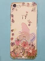 Силиконовый чехол бампер для мобильного телефона iphone 7/8. Best Swarovski