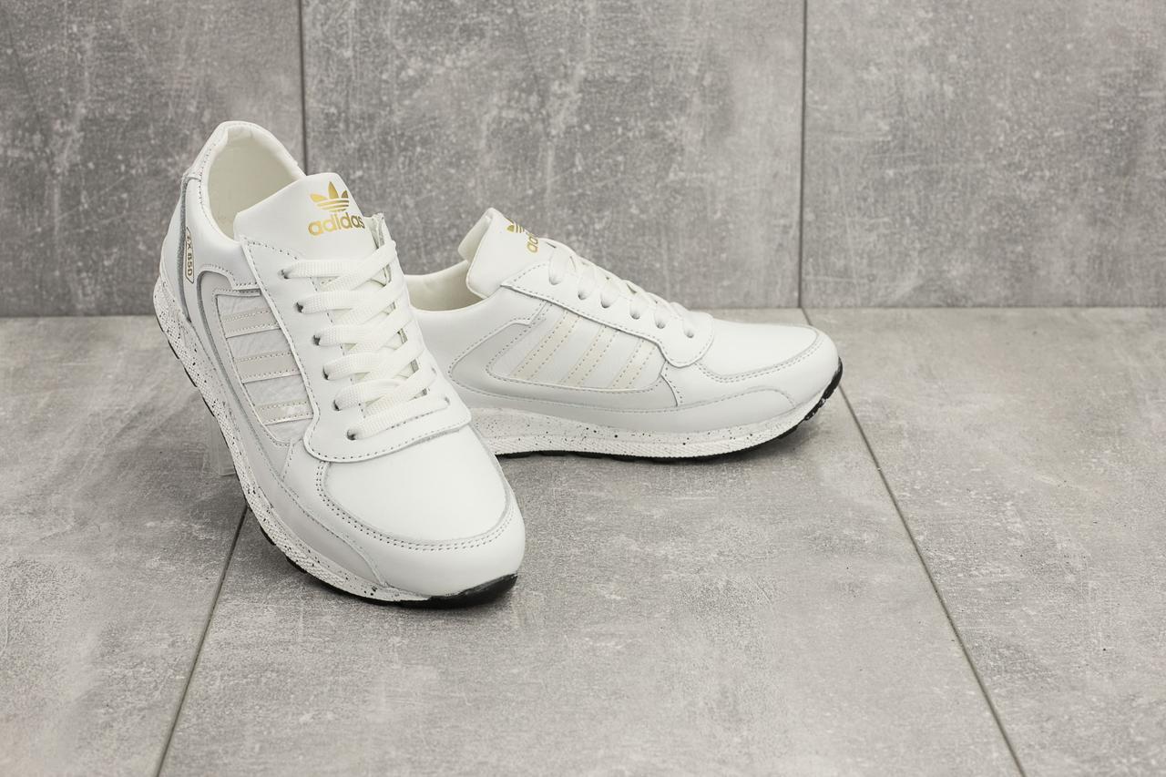 Женские кроссовки кожаные весна/осень белые Yuves 85