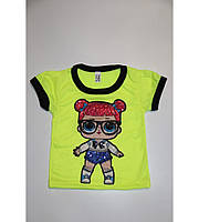 Детская футболка неоновая ЛОЛ LOL