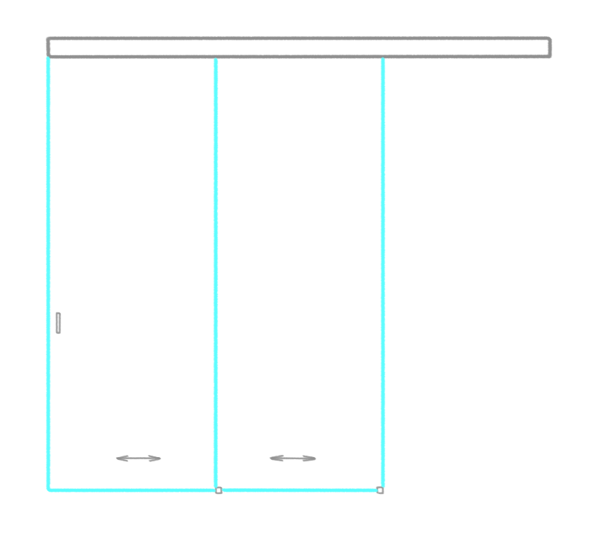 SSGA-7 Раздвижная дверь из стекла - Стеклянная раздвижная перегородка