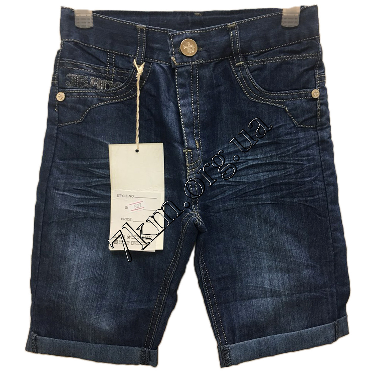 Бриджи джинсовые для мальчиков 21-26 р.р. Оптом 807