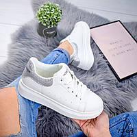 Кроссовки женские в стиле MQ белый + серебро 7164, фото 1