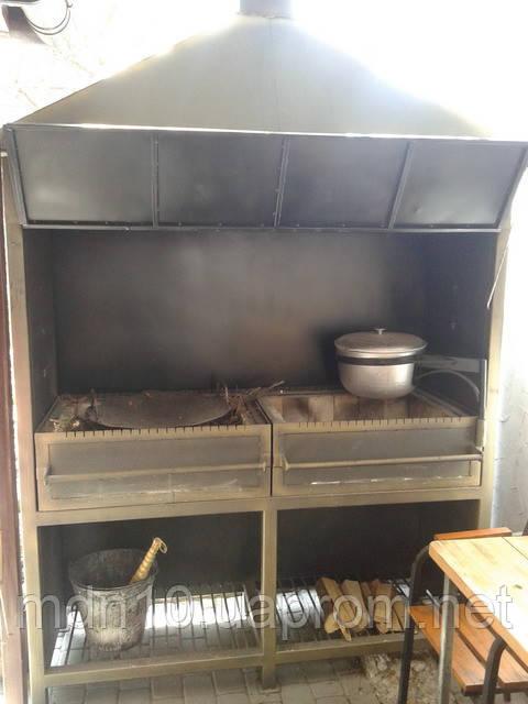 Мангал стационарный для кафе/ресторана (MS-MKK-01)
