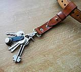 Кожаный брелок для ключей c карабином, фото 2