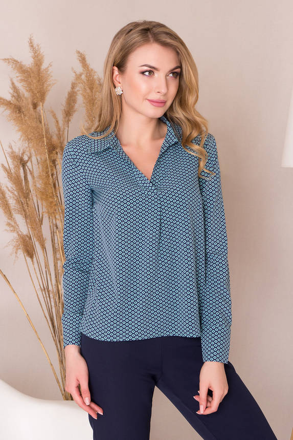 Стильная блузка с рубашечным воротником, фото 2