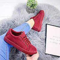 Кроссовки криперы Flash бордо , женская обувь
