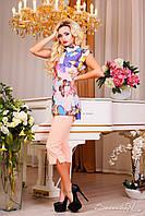 Элегантная блуза, шифоновая, бабочки, весеняя, на пуговицах, 2015, фото 1