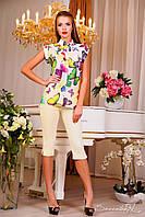 Элегантная блуза, шифоновая, бабочки, весенняя, на пуговицах, 2015