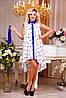 Яркое летнее платье, шифоновое, белое, цветочный принт