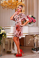 Платье летнее легкое свободное, принт, фото 1