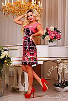 Яркое, стильное платье приталенное, 2015, фото 1