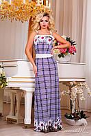 Платье летнее в пол с завышенной талией, от 42 до 52 размера, фото 1