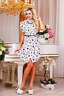 Нежное воздушное платье в романтичном стиле, летнее, шифоновое, белый сарафан, с подкладкой