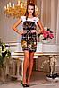 Яркое, стильное платье приталенное