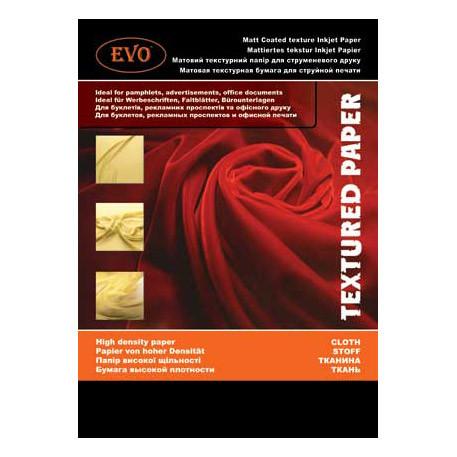 Матовая двусторонняя текстурная бумага EVO 220г A4 50 стр. (ткань).