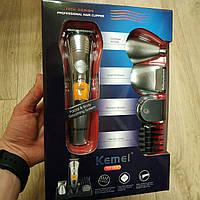 Триммер с насадками Kemei km-580a машинка для стрижки волос и бороды 7 в 1