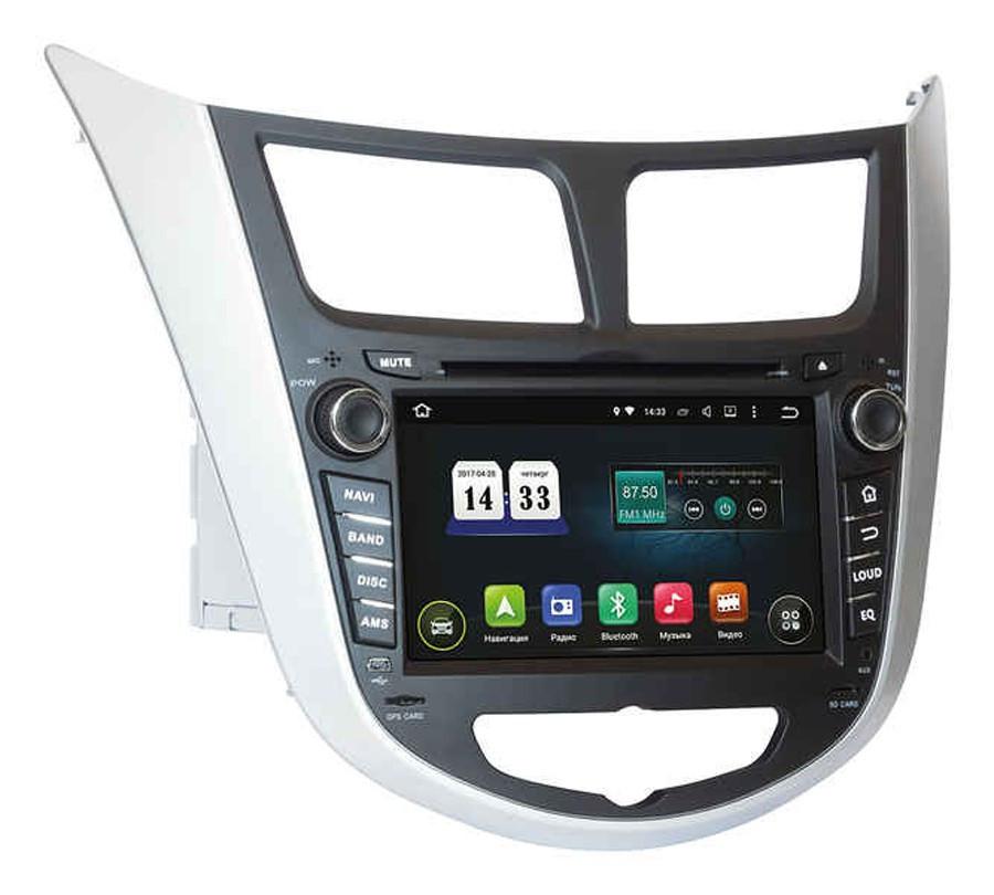 Автомагнитола штатная Hyundai Accent 2011+ AHR-2487 Bluetooth, модуль WiFi и 3GAndroid 4.1