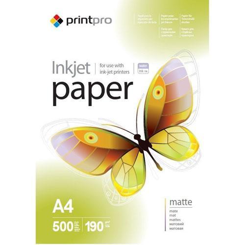 PrintPro матовая фотобумага 190гр, A4, 500 листов