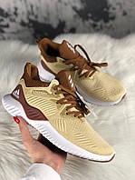 Чоловічі кросівки Adidas Alphabounce Cream Brown, Репліка, фото 1